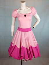 Sexy Plumber Bros Princess Peach Toadstool Dress Adult Womens Cosplay Costume SM