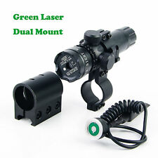 US Green Dot laser sight outside adjust For rifle gun scope 2 switch 2 mounts