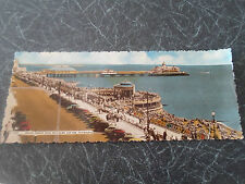 1960 Vintage Colour Panoramic PC Grand Parade Band Enclosure+Pier Eastbourne