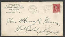 1910 COVER MIDDLETOWN NY G B ADAMS & CO FURNITURE BEDS CARPETING & BEDDING