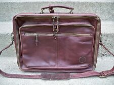 Vtg Made in Colombia Brown Leather Shoulder Messenger Lawyer Bag Briefcase Pack