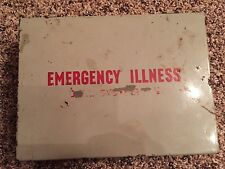 Vintage Collectible 1950's Emergency Illness First Aid Tin Kit