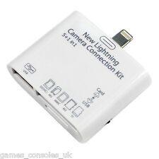 IPad AIR USB TELECAMERE KIT SD Card per iPad 4/5 Mini 3 in 1 Lettore Scheda TF IOS 8.3
