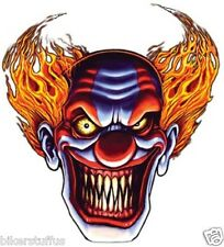 EVIL CLOWN BUMPER STICKER LAPTOP STICKER HARD HAT STICKER HELMET STICKER
