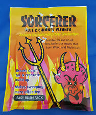 Sorcerer Flue and Chimney Cleaner 90g Reduces Corrosion Improves Combustion