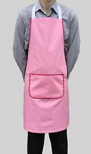 Wholesale job lot 10 brand new rose bib tabliers cafe travail catering chef bouchers