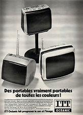 Publicité 1977  Téléviseurs Portables ITT Océanic