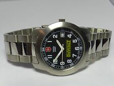 Mens Vintage SWISS ARMY VICTORINOX Stainless Steel WR 100M Glow-in-the-DarkWatch