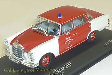 Minichamps 1:43 Mercedes-Benz 200 1965 Fire Feuerwehr Schorndorf 400-037290