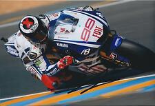 Jorge Lorenzo SIGNED MotoGP Day of Champions YAMAHA 12x8 Photo AFTAL In Person