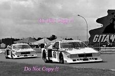Lancia Beta Monte Carlo #66 and #65 Le Mans 1982 Photograph