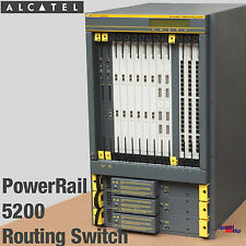 ALCATEL POWERRAIL 5200 ROUTING SWITCH GIGABIT 1000BASE ST SX TX 100BASE 1000MBIT