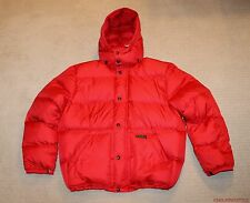 NEW Polo Ralph Lauren Patch Logo Down Filled Red Puffer Ski Jacket Large