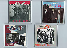 4 Coasters STRAY CATS Runaway Boys Rock This Town Strut Don't Believe Rockabilly