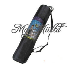 Yoga Mat Bag Exercise Fitness Carrier Nylon Mesh Washable Adjustable Strap O