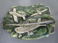 1977 Bergamot Brass works Y-39 Airplanes Belt Buckle