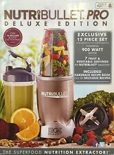 Nutribullet Pro Deluxe Edition 900W 13 Piece Set Blender/Extractor/Juicer NEW