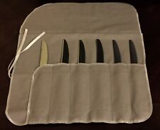 12 Section DINNER KNIFE Storage Roll Silverware Silver Wrap anti non tarnish