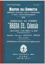 BREDA 39 Ba19 Coloniale Colombo CA195 AIRCRAFT AERONAUTICA FLIGHT Manual - DVD
