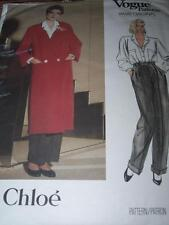VOGUE #1596-DESIGNER CHLOE' - LADIES BELOW KNEE COAT - PANTS & BLOUSE PATTERN 12
