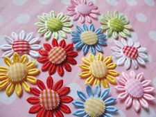 *Sale* Padded Satin/Gingham Daisy Appliques x60 -Craft