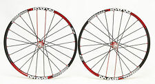 "Remerx Magic Al  26"" Red/Black MTB Racing Bike Wheels Shimano Sram"