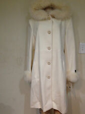 Marvin Richards women's  winter fox fur lambswool  hood jacket coat size16 $680