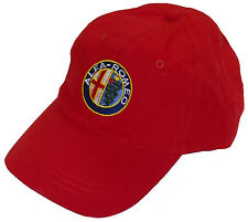ALFA ROMEO embroidered hat - red body