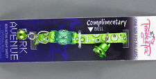 Cat Collar - Reflective with Safety Clip - Green Bubble Pattern