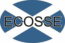 Scottish Scotland Saltire Ecosse Car Oval Sticker Decal Graphic Vinyl Label
