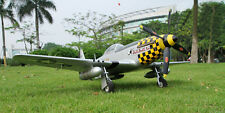 Top High Scale P-51D Mustang Yellow RC Airplane KIT W/O RC Battery&Electronics