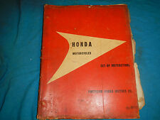 1960'S 60 61 62 63 64 65 HONDA SET-UP INSTRUCTIONS #2 PARTS MANUAL BOOK CATALOG