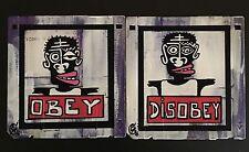 """Lot 2 Oeuvres"" de eR (street art brut, Obey, Shepard Fairey) PAYPAL OK"