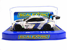 "Scalextric ""Avon Tyres"" Bentley Continental GT3 DPR 1/32 Scale Slot Car C3515"