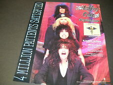 MOTLEY CRUE line up behind one another for DR. FEELGOOD 1991 PROMO POSTER AD