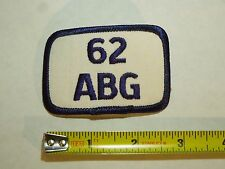 62 ABG Air Base Group Iron On Patch