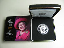 2002 Proof $1 Queen Mother Elizabeth .925 Silver Dollar Canada