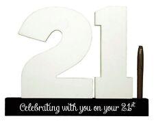 Splosh Personalise 21 Signature Numbers 21st Birthday Fun Keepsake Momento Gift