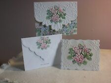 Carol's Rose Garden -  Note Card in carrying case - African Violets (10 pcs)
