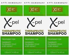 3 x 125ml Xpel Therapeutic Shampoo Treatment for Dandruff Psoriasis Itchy Scalp