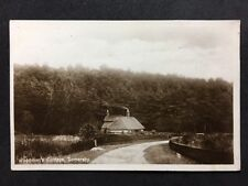 RP Vintage Postcard - Lincolnshire #B24 - Woodmans Cottage, Somersby - 1920s