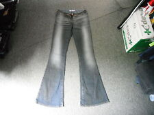 "Miss Sixty Flared Jeans Size 26 Leg 34"" Faded Dark Blue Ladies Jeans"