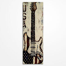 Original american flag guitar painting on canvas, music wall art, MADE TO ORDER