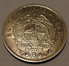1895 Half Crown 2.5 Shilling Paul Kruger pre Boer War ZAR coin from South Africa