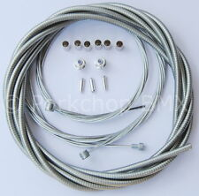 Bicycle 5mm LINED freestyle for ACS rotor brake cable kit old school BMX - CLEAR