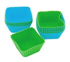 Wilton Square Silicone Baking Cups Cake Cupcake Brownie Muffin Pan 12 Count New