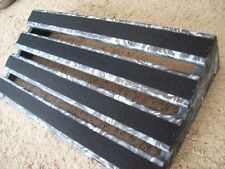 WHITE AND BLACK GUITAR PEDAL BOARD, LARGE SIZE PEDAL BOARD, CUSTOM COLOR BOARD