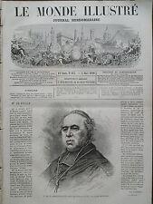 LE MONDE ILLUSTRE 1870 N 673  S EM. LE CARDINAL DE BONALD,  ARCHEVÊQUE DE LYON