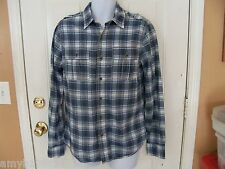 Converse Long-Sleeve Blue Plaid Shirt Size Small  Men's NEW LAST ONE
