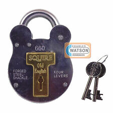 Squire 660 Old English Steel All Weather Padlock Gate Garage Shed Security Style